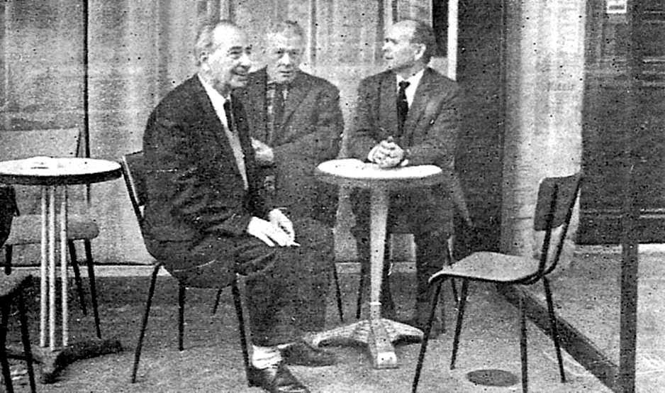 D'esquerra a dreta: Martín Alandí Pomer, Miguel García Vivancos i Olegario Pachón Muñez (París, 1957)