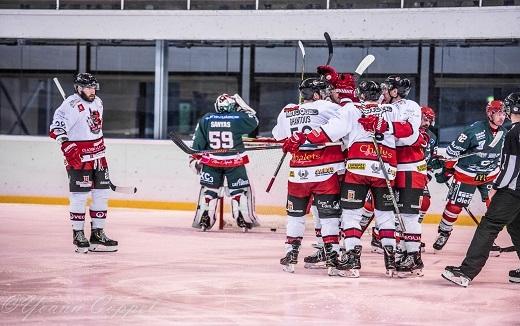 Photo hockey Coupe de France - Coupe de France 16ème de Finale : Mont-Blanc vs Briançon  - Les Diables Rouges tiennent leur revanche
