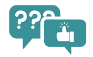 Question and Answer speech bubbles