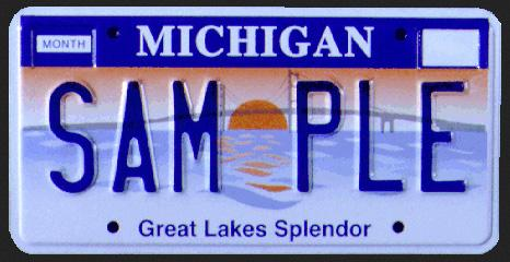 Michigan License Plate