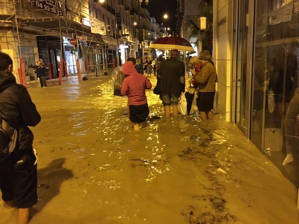 Cannes France Flooding