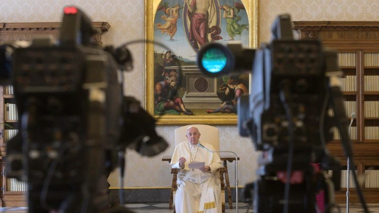 Pope Francis during his General Audience