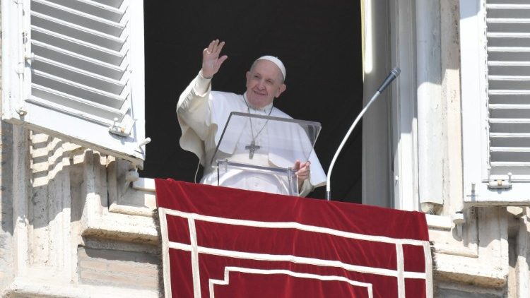 Pope Francis at the Sunday Angelus