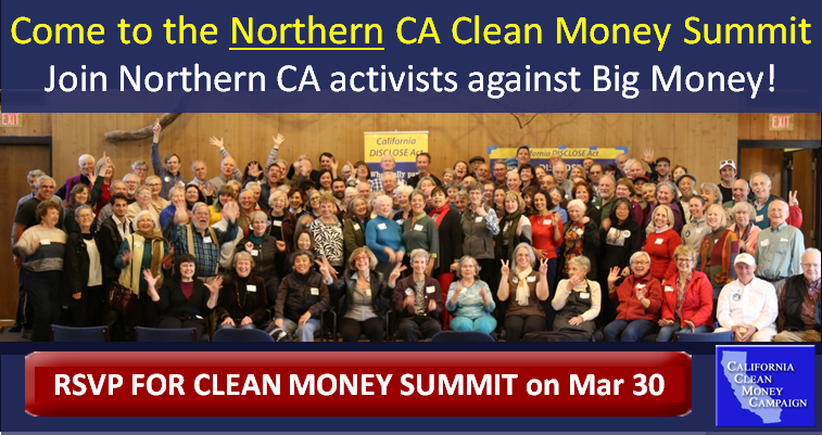Clean Money Grassroots Summit! @ Unitarian Universalist Church of Palo Alto