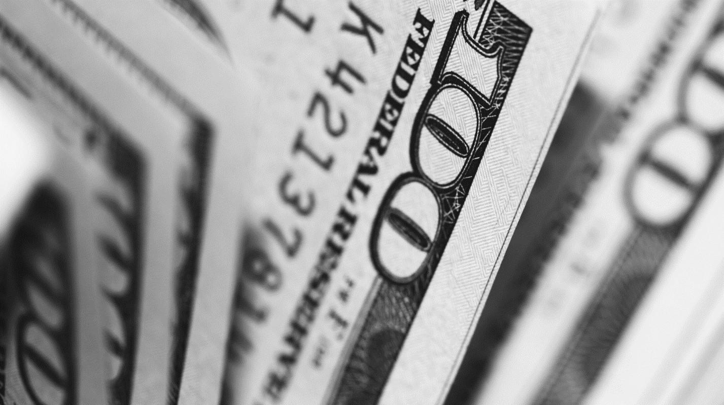 Close up shot of hundred dollar bills