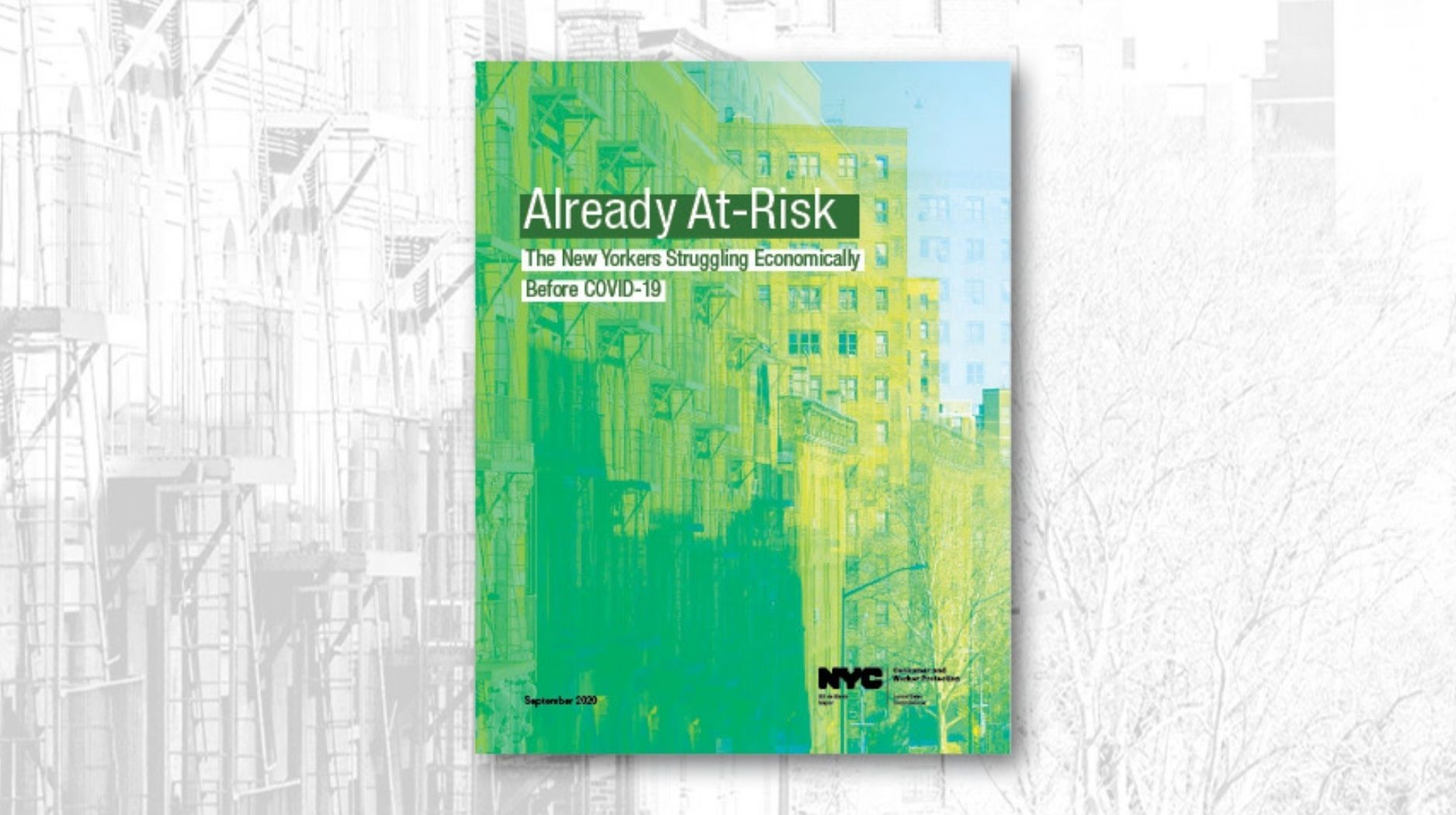 Report cover of Already At-Risk: The New Yorkers Struggling Economically Before COVID-19