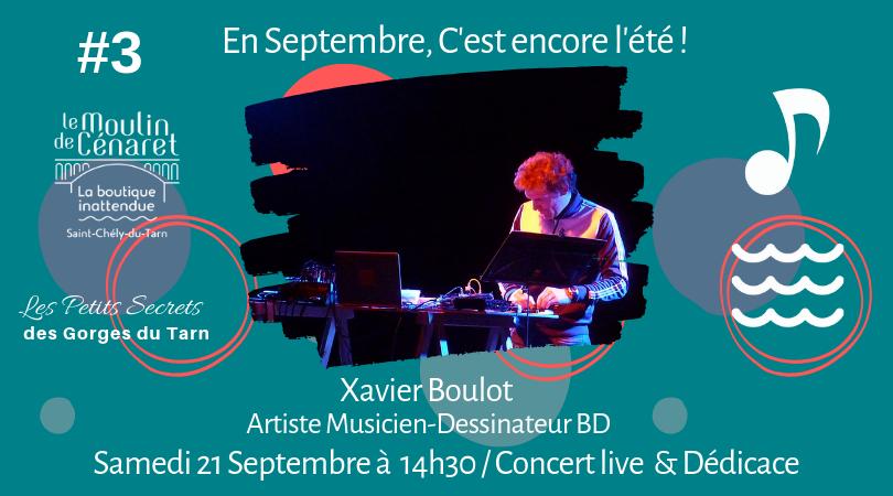 Xavier Boulot Samedi 21 Septembre 14h30