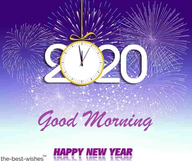 new year 2020 good morning