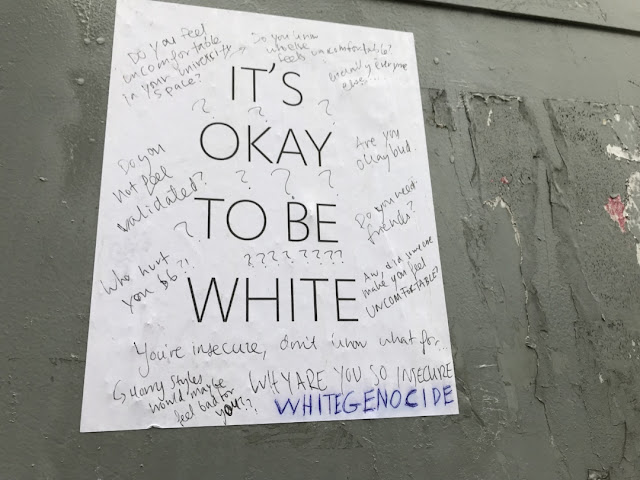 It's Okay to be White sign