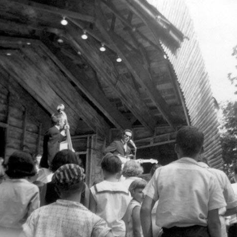 Image result for picture of buddy holly on stage at buck lake indiana""