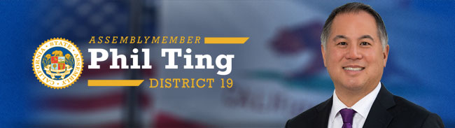 From Assemblymember Phil Ting
