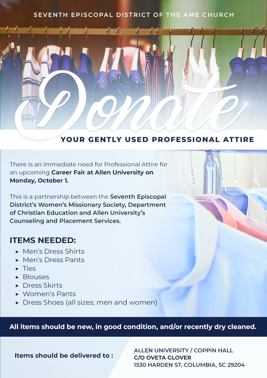 Donate Professional Attire