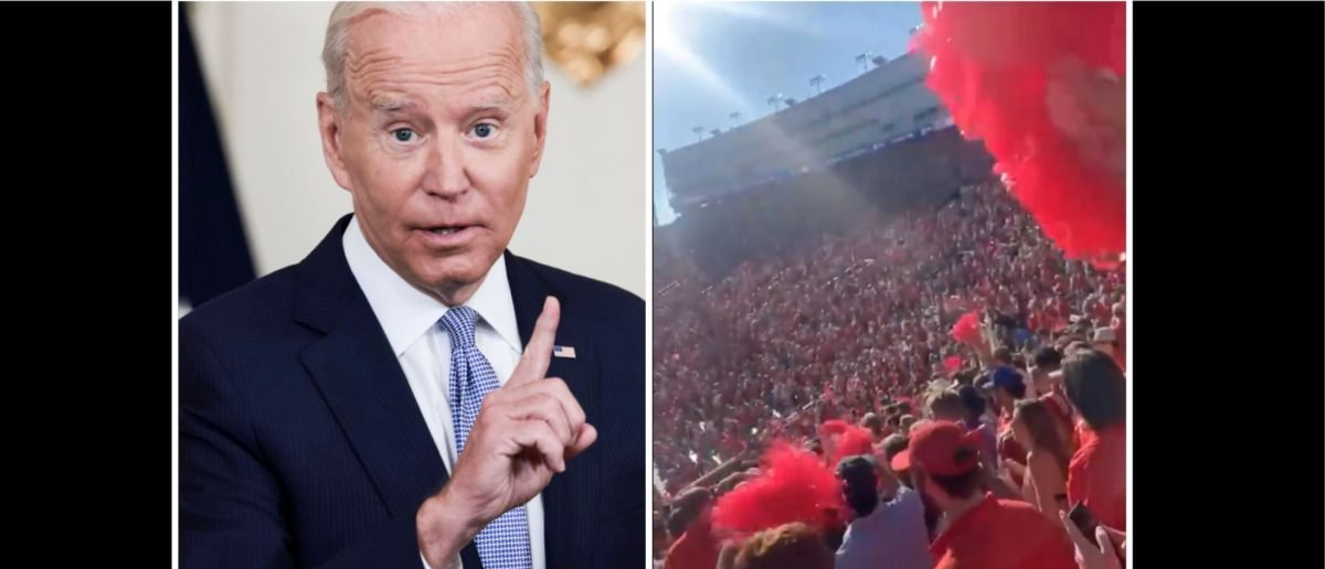 Fans Loudly Chant 'F**k Joe Biden' During The Ole Miss/LSU Game