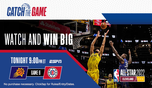 Watch tonight's game and enter for a chance to win a trip to NBA All-Star and more!
