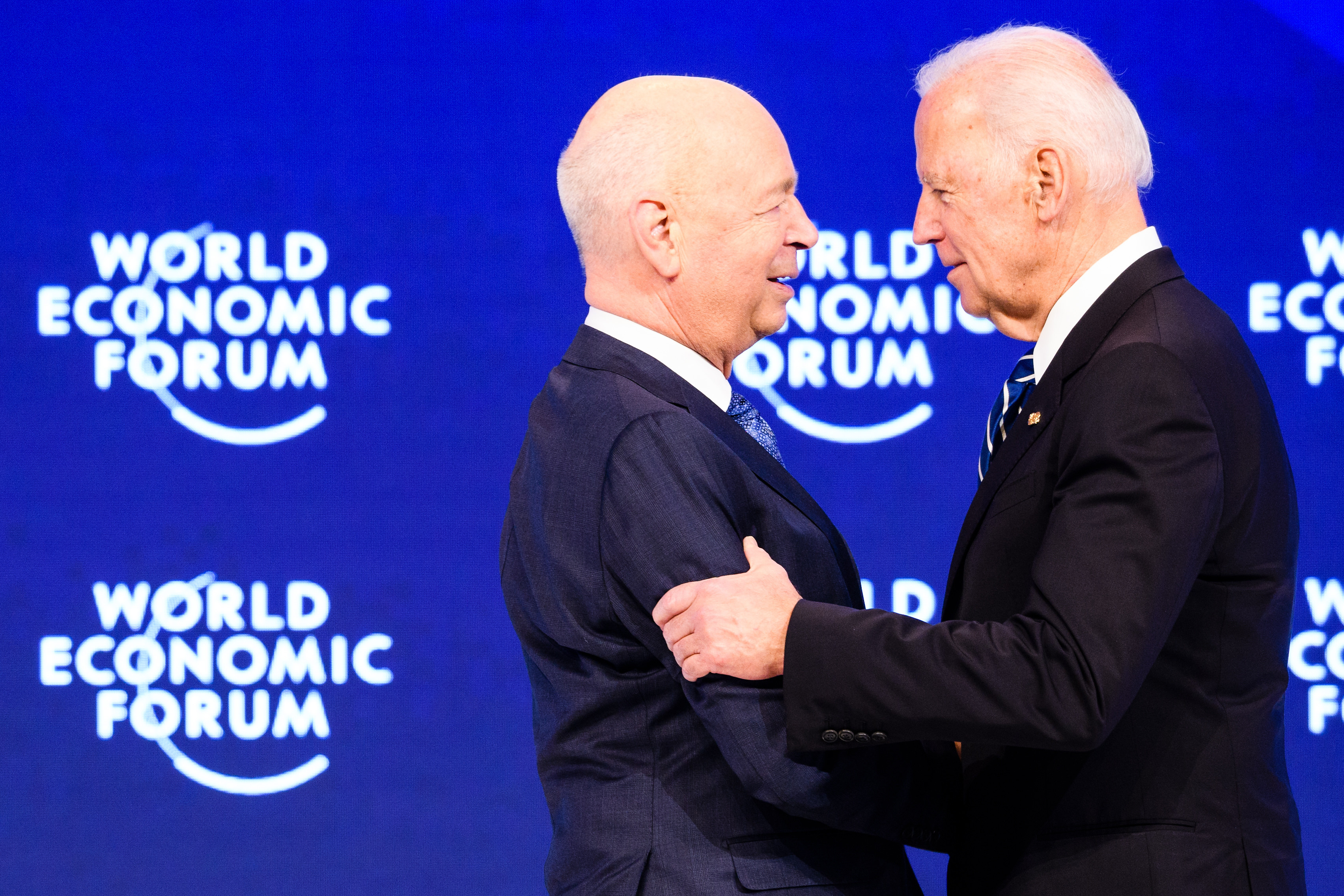 Klaus Schwab, Founder and Executive Chairman, World Economic Forum; Joseph R. Biden Jr, Vice-President of the United States of America at the Annual Meeting 2017 of the World Economic Forum in Davos, January 18, 2017.Copyright by World Economic Forum / Manuel Lopez