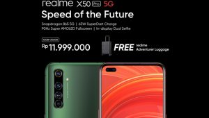 Description: price announcement socmed realme X50 Pro