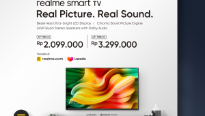 Description: price announcement socmed ealme Smart TV