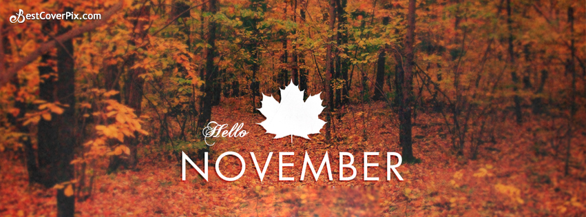 Hello November Facebook Covers for Timelines - Facebook Cover Photos
