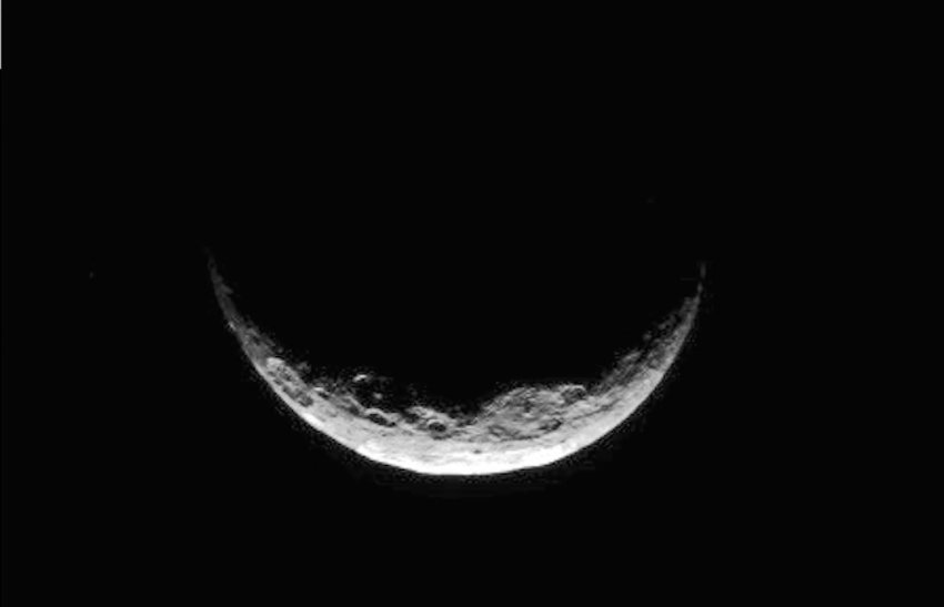 View of dwarf planet Ceres' south polar region taken by NASA's Dawn Spacecraft