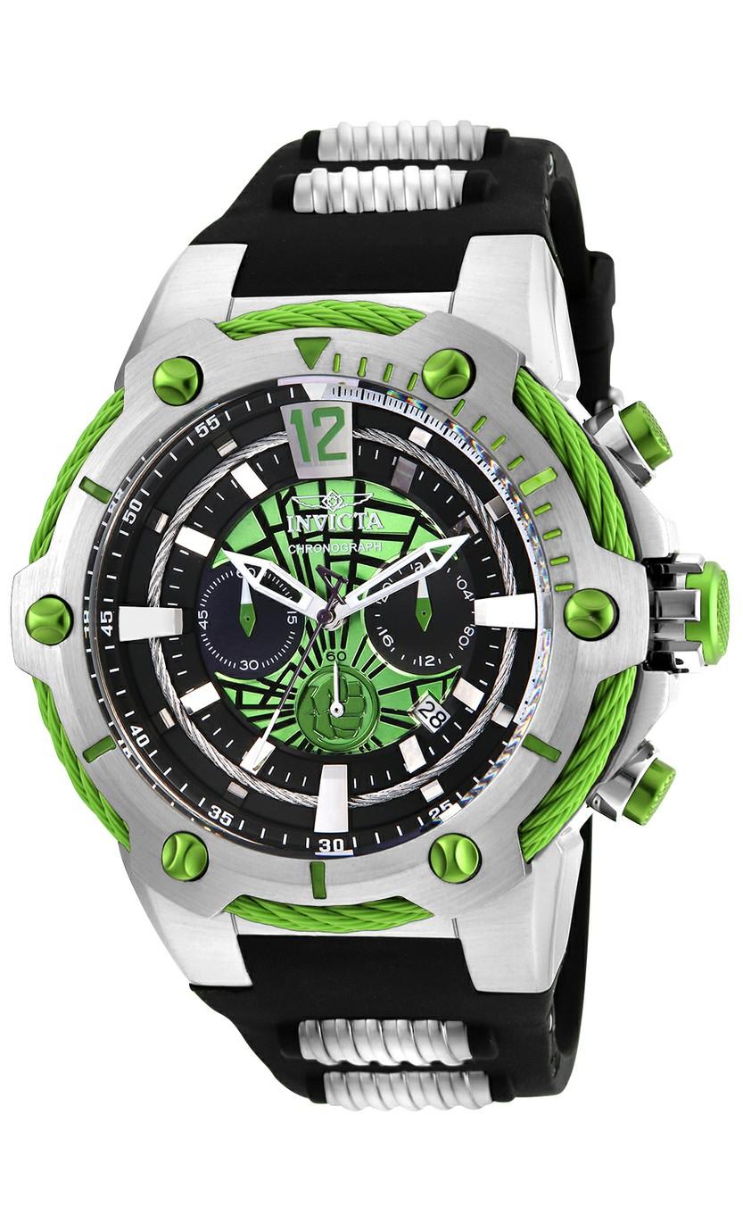 Invicta Marvel Limited Edition Hulk Mens Quartz 53mm Stainless Steel Case Green Dial - Model 25985