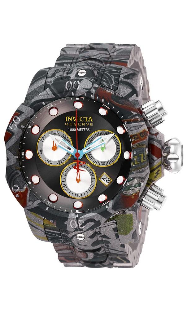Invicta Venom Hydroplated Men's Quartz 53.7 mm Stainless Steel, Aqua-Plating Case Black Dial - Model 26634