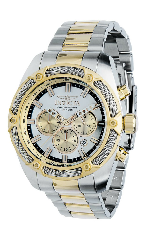 Invicta Men's 31437 Bolt Quartz Chronograph Silver Dial Watch