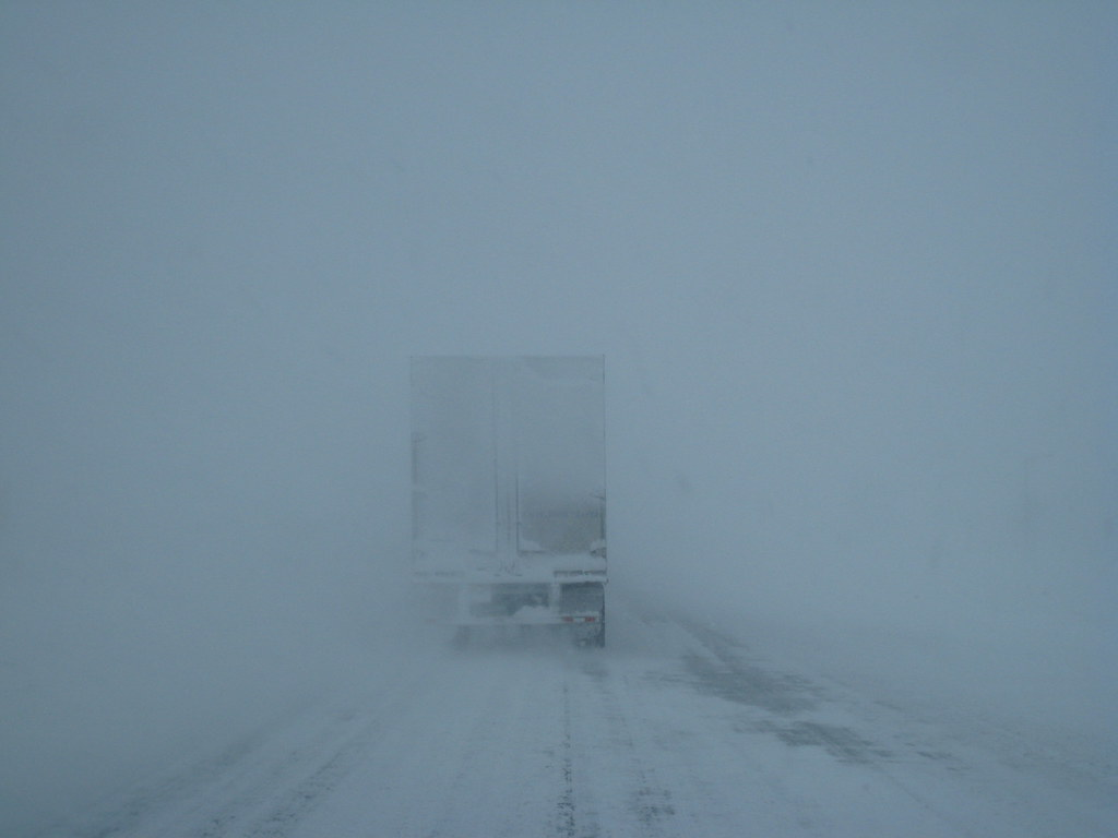 Driving in Blizzard
