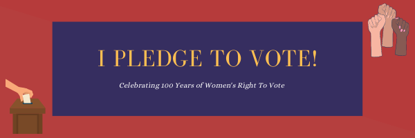 Pledge To Vote Banner