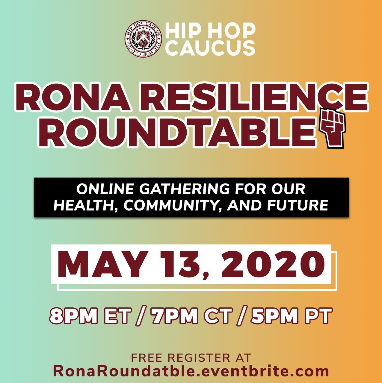Hip Hop Caucus Rona Resilience Roundtable