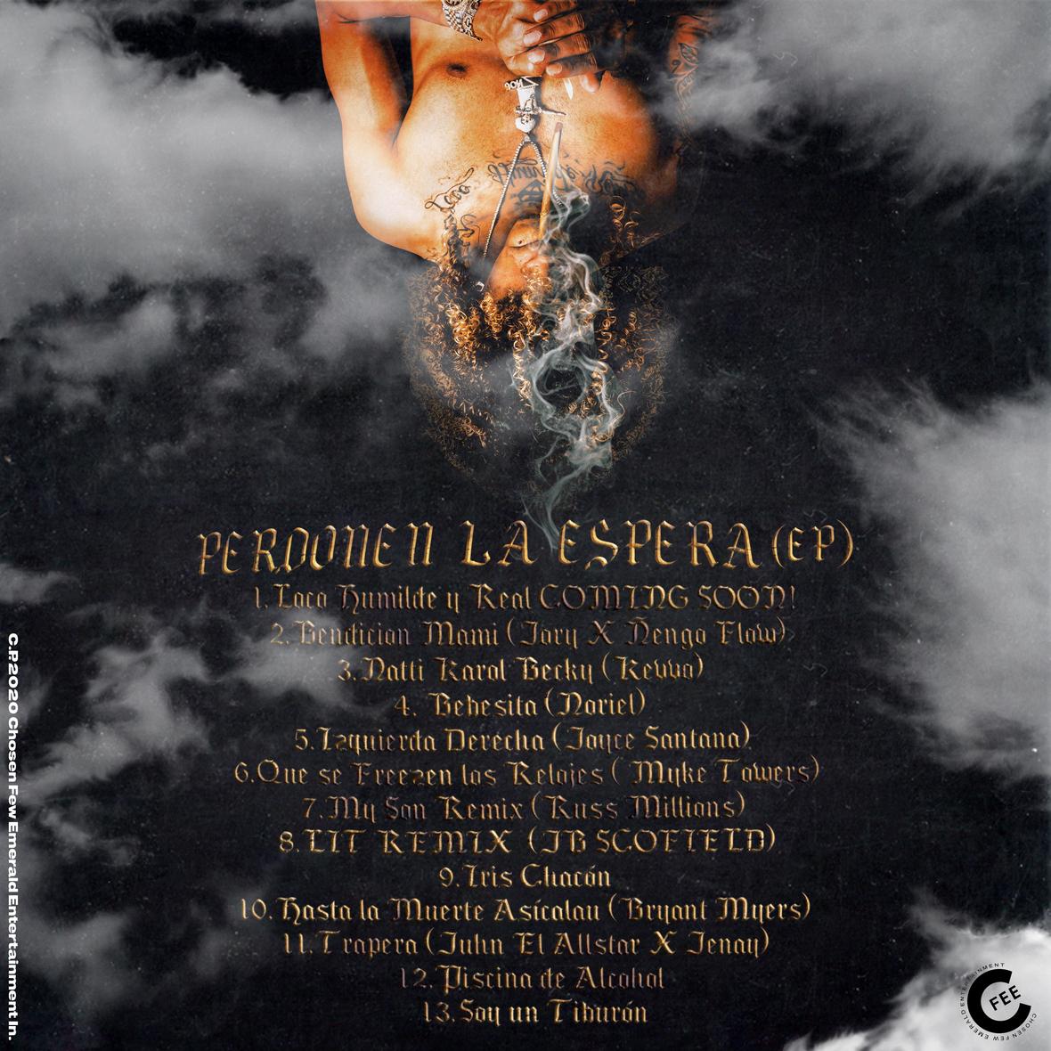JON Z - Perdonen La Hora TRACKLIST Back Cover