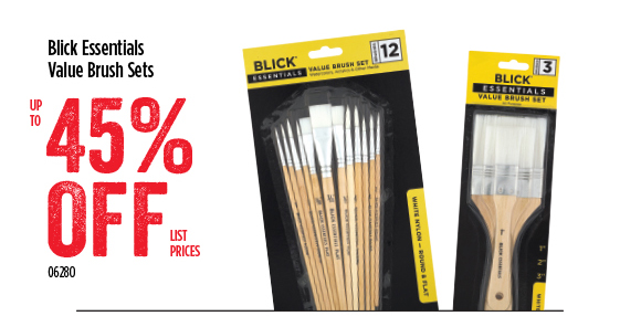 Blick Essentials Value Brush Sets - up to 45% off list prices