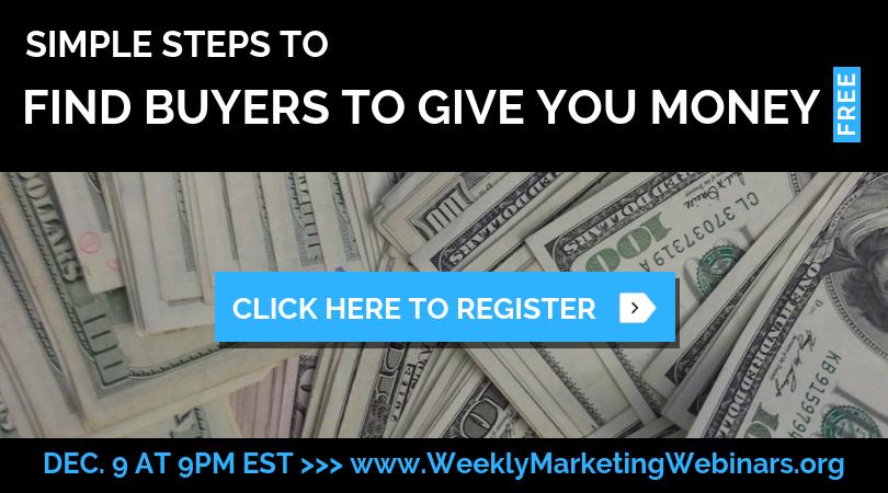 Weekly Marketing Webinar