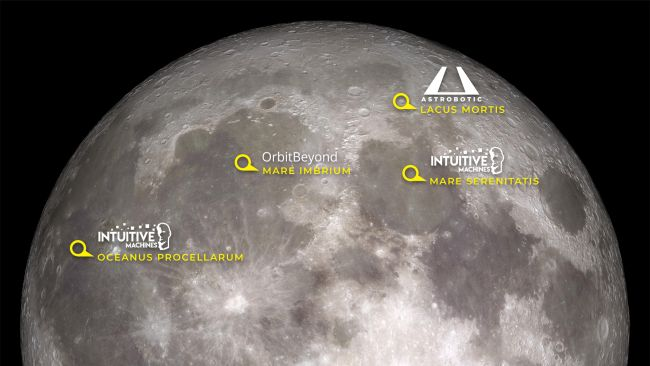 Here's Where Commercial Landers Will Land on the Moon for NASA