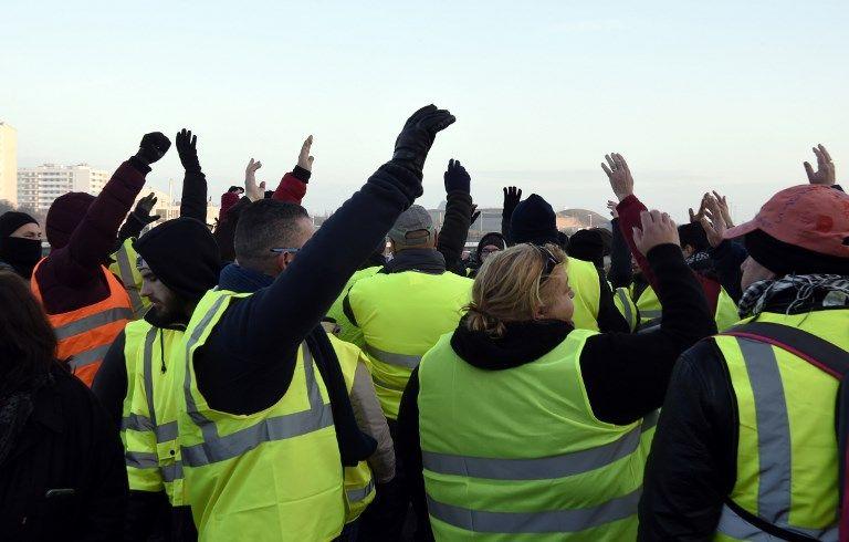 Les Gilets jaune le 23 novembre 2018 à Calais