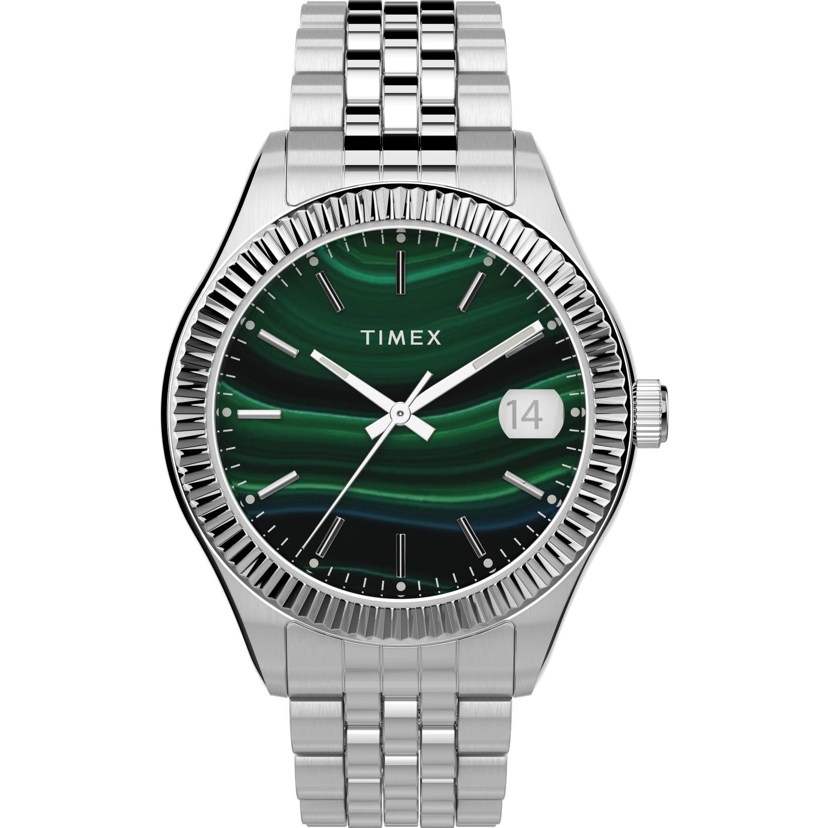 Timex Waterbury 34mm Green Silver
