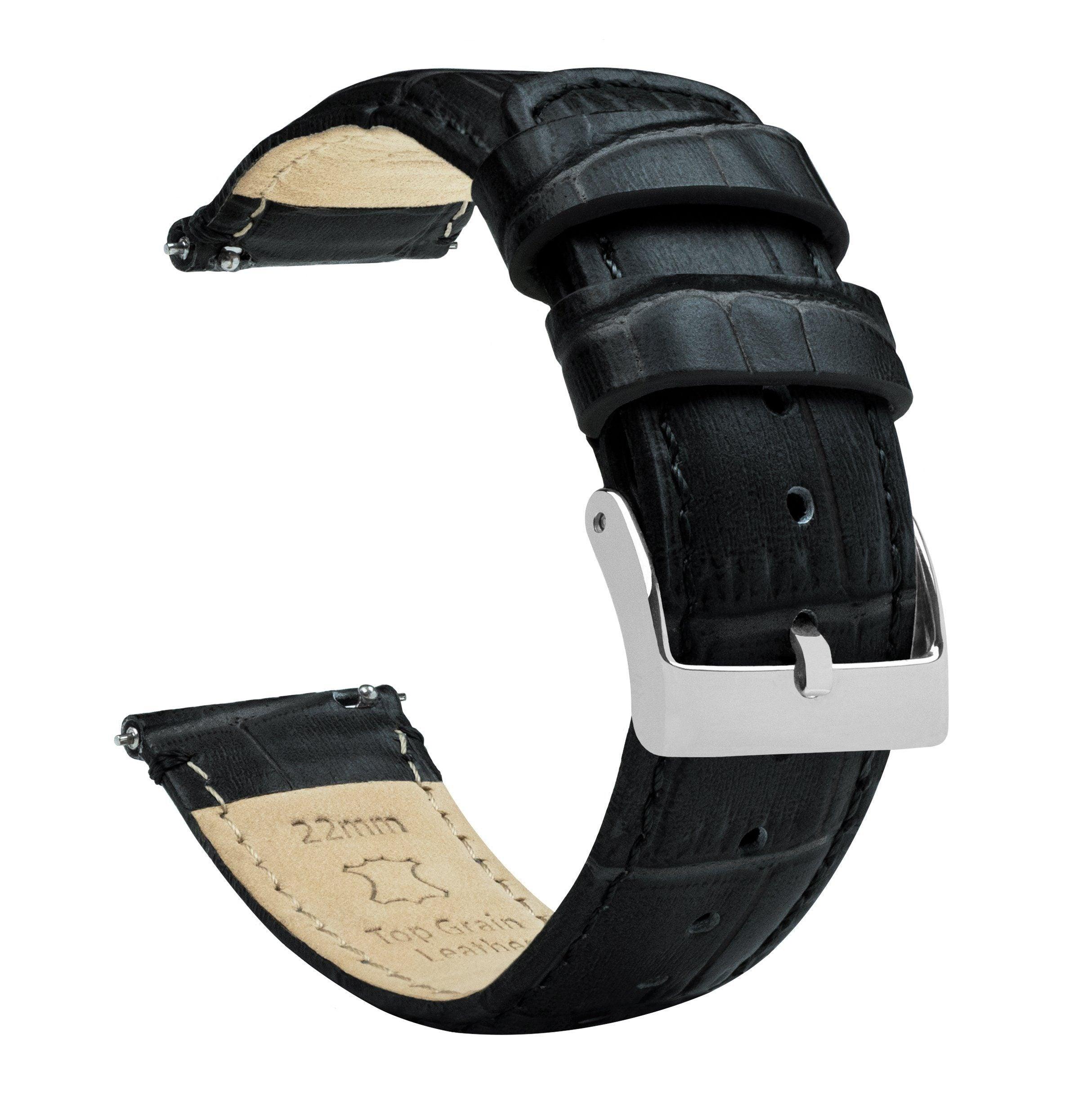 Black | Alligator Grain Leather