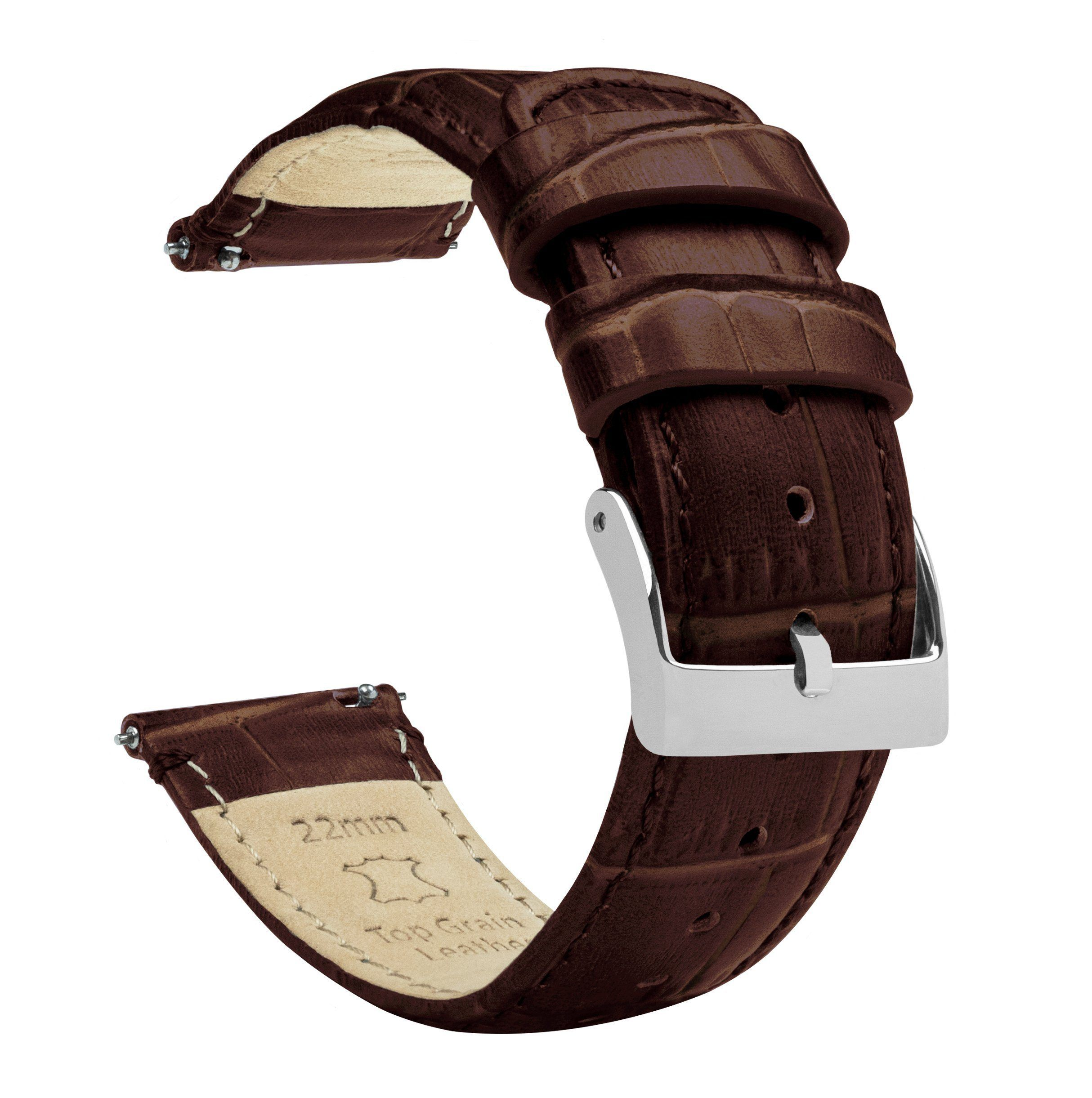 Coffee Brown | Alligator Grain Leather