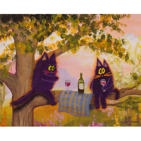 "Kitty Wine Fest - Cranky Cat Collectionâ""¢ by Cindy Schmidt"