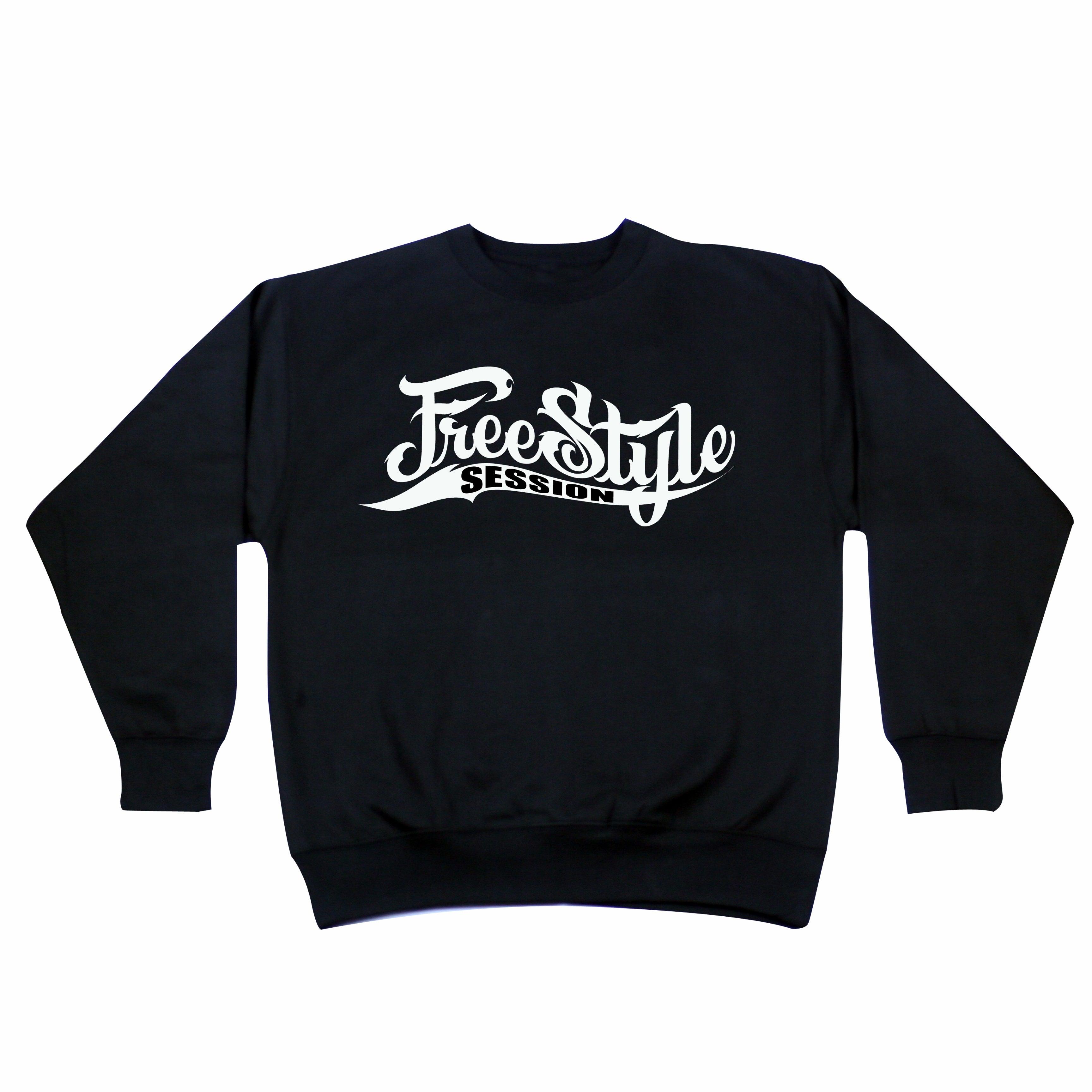 Freestyle Session Crewneck Black Sweater