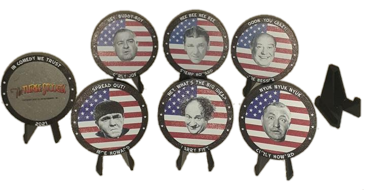 Three Stooges Collectible Coin Set!  All 6 Stooges!