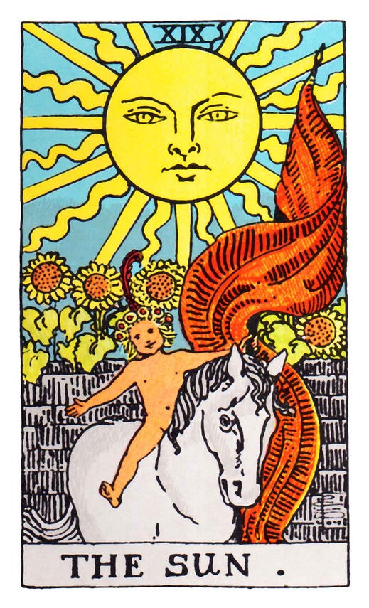 Image result for tarot the sun