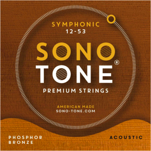 SonoTone Symphonic series premium acoustic guitar strings feature a precision hex core and an ultra phosphor bronze wrap designed to enhance the tone and feel of any acoustic guitar