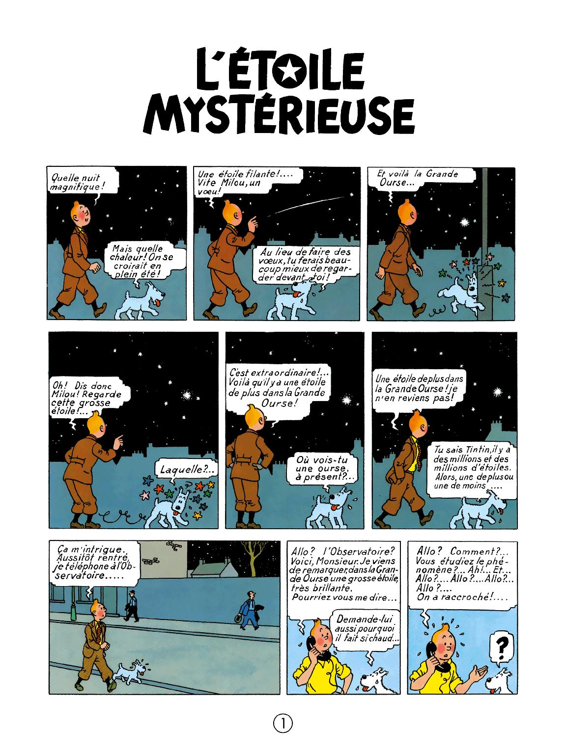 L'Étoile mystérieuse - page 1