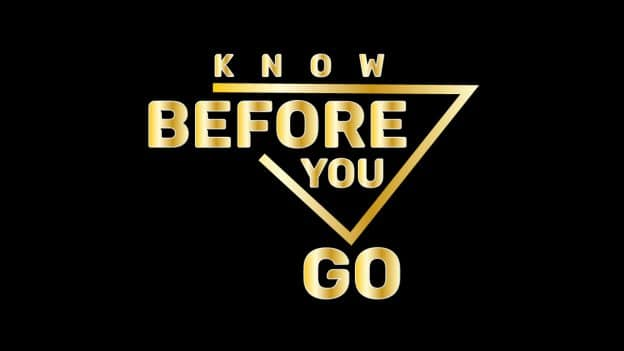 Image result for know before you go