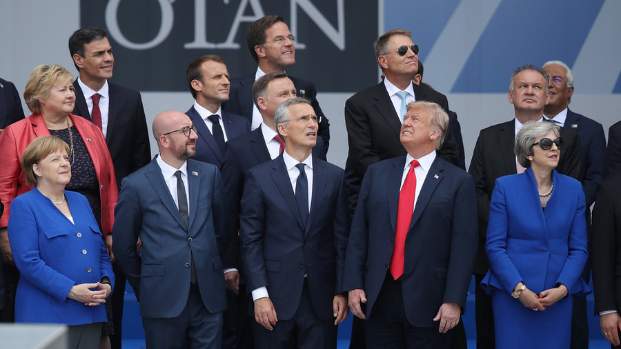 The perfect metaphor? NATO summit photo sparks Twitter meme