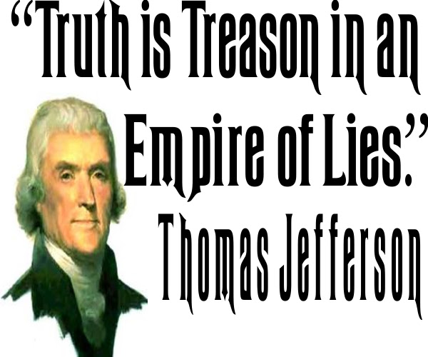 Image result for truth is treason in an empire of lies