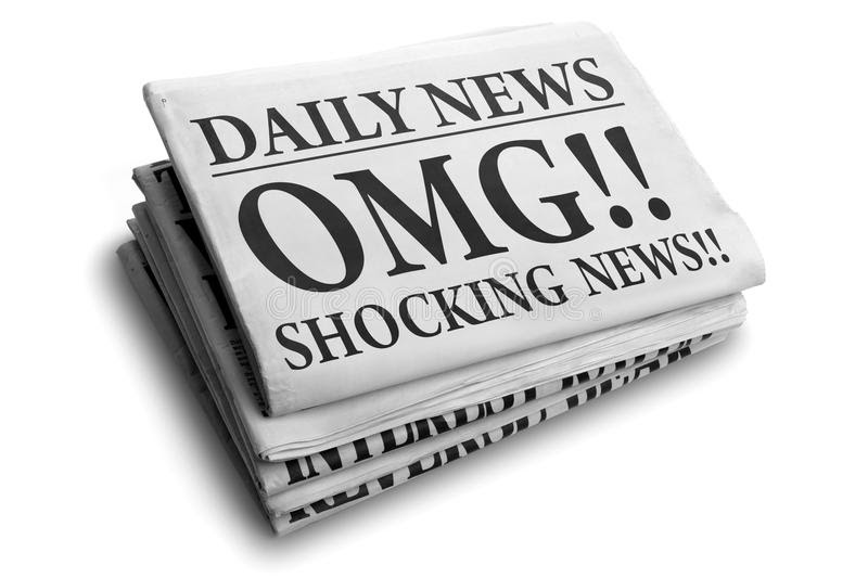 OMG Shocking News Daily Newspaper Headline Stock Image - Image of global, gossip: 31451595