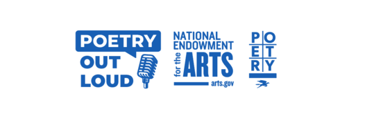 Poetry Out Loud, National Endowment for the Arts, and Poetry Foundation logos