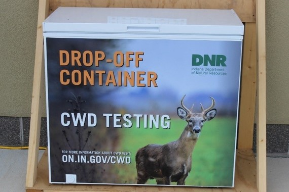 CWD Cooler for dropping off heads for testing
