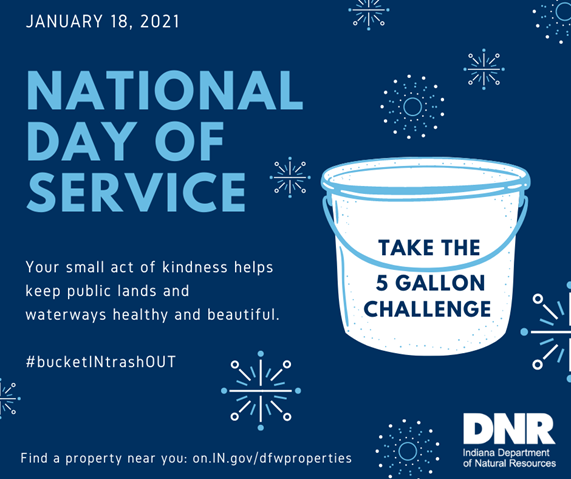 Jan. 18 National Day of Service: Your small act of kindness helps keep public lands and waterways healthy and beautiful.